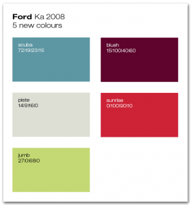 Ford Ka Launchfarben 2008