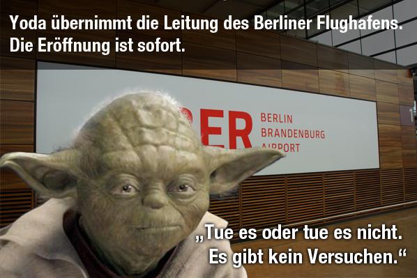 Yoda übernimmt den Berliner Flughafen