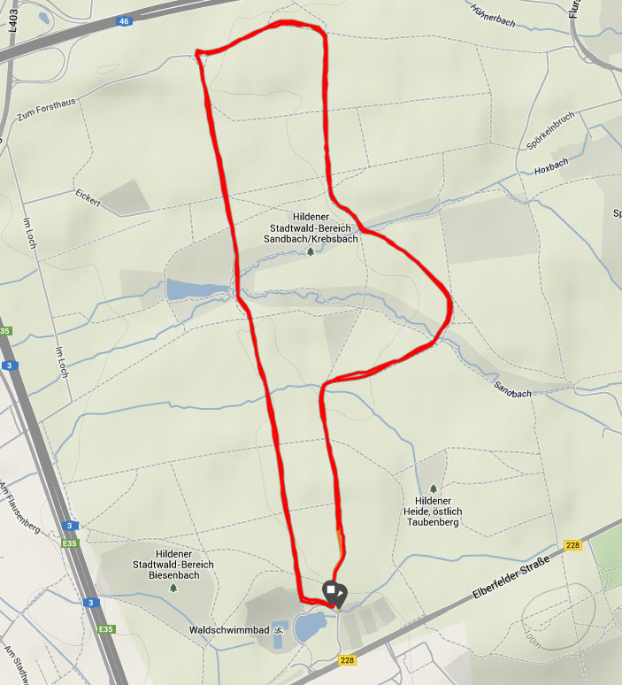 Karte Hildener Stadtwald