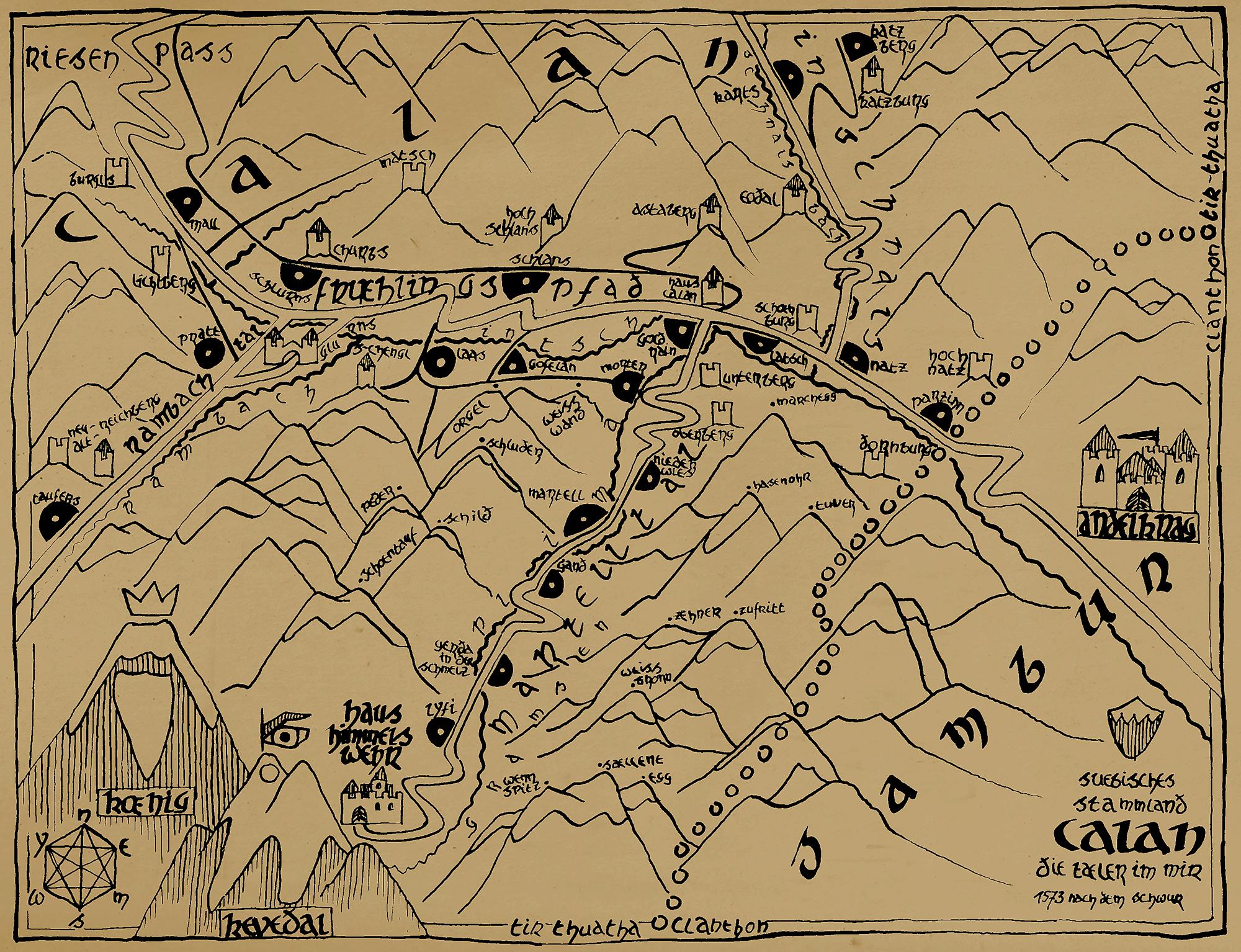 Karte Calan